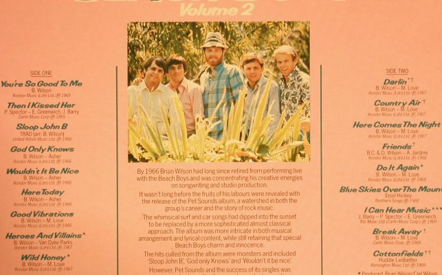 Beach Boys: The Best Of Vol.2, Capitol(BBTV1867193), , 1983 - LP - H7395 - 5,50 Euro
