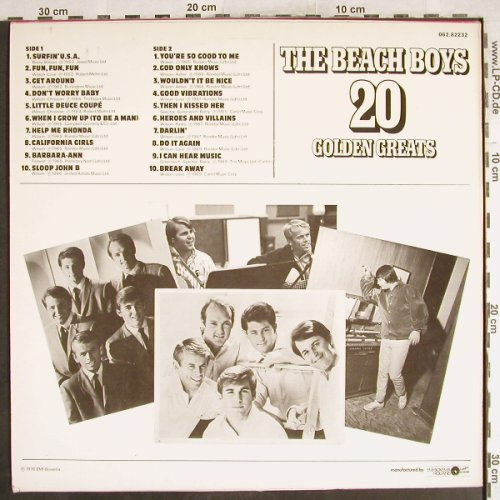 Beach Boys: 20 Golden Greats, Capitol(062.82232), NL, 1976 - LP - H7397 - 5,50 Euro