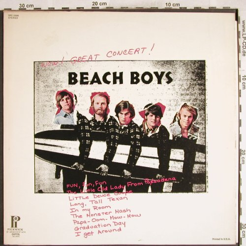 Beach Boys: Wow! Great Concert, Pickwick(SPC-3309), US,  - LP - H7399 - 6,50 Euro