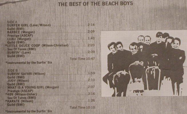 Beach Boys: The Best Of, Scepter(CTN 18004), US, 1972 - LP - H7409 - 6,00 Euro