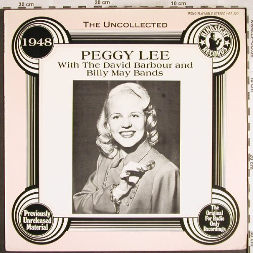 Lee,Peggy: The Uncollected,D.Babour,B.MayBand, Hindsight Records(HSR-220), US,vg+/m-, 1985 - LP - H7472 - 5,00 Euro