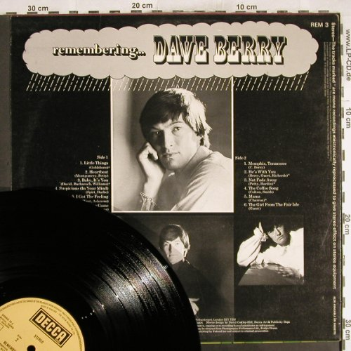 Berry,Dave: Remebering...,Ri, Decca(REM 3), UK,  - LP - H7479 - 7,50 Euro