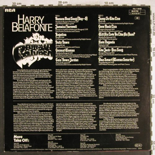 Belafonte,Harry: Take Off!-The King Of Calypso, RCA(PJL 1-8103), D, 1976 - LP - H7487 - 4,00 Euro