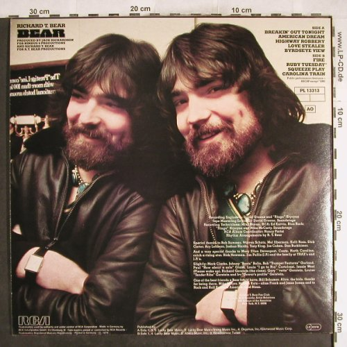 Bear,Richard T.: Bear, RCA(PL 13313), D, 1979 - LP - H7499 - 7,50 Euro