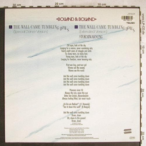 Bolland & Bolland: The Wall Came Tumbling Down*2+1, Teldec(170 917-0), D, 1989 - 12inch - H7520 - 3,00 Euro