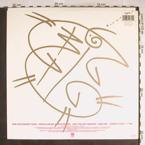 Big Pig: Hungry Town(Grub Club Mix)+2(Mixe), AM(392261-1), D, 1987 - 12inch - H7534 - 3,00 Euro