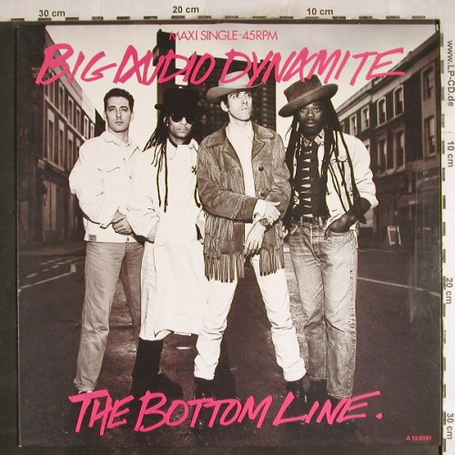 Big Audio Dynamite: The Bottom Line / BAD,Muster-Stoc, CBS(A 12.6591), NL, 1985 - 12inch - H7543 - 3,00 Euro