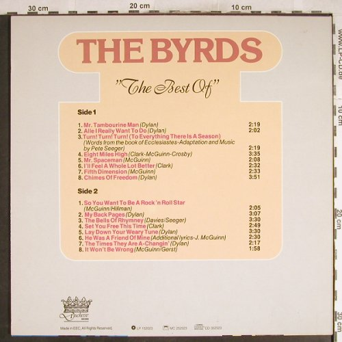 Byrds: The Best Of, Duchesse(152023), EEC,  - LP - H7605 - 6,00 Euro