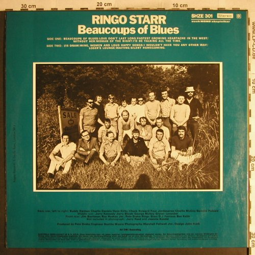 Starr,Ringo: Beaucoups of Blues, Foc, <vg+/m-, Apple/HörZu(SHZE 301), D,  - LP - H7609 - 30,00 Euro