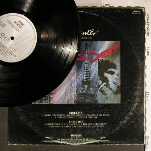 Hunter,Mark: Communication, vg+/Vg+, PolyGram(827 233-1), AUS, 1985 - LP - H7672 - 4,00 Euro