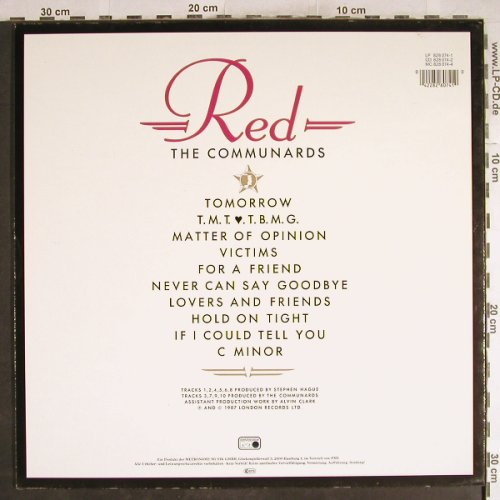 Communards: Red (white Cover), Metronome(828 074-1), D, 1987 - LP - H7767 - 5,00 Euro
