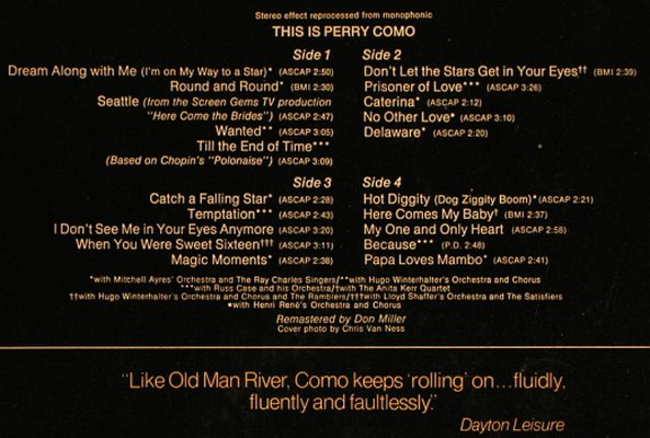 Como,Perry: This Is, Foc, RCA Victor(26.28028 DP'), D, 1974 - 2LP - H7769 - 6,00 Euro