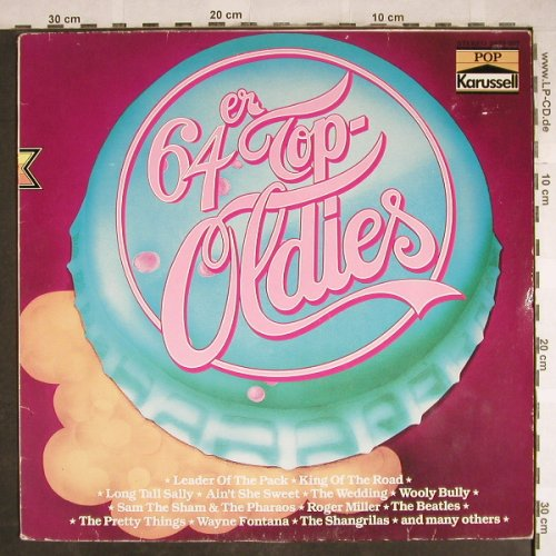 V.A.Top-Oldies '64: Roger Miller...Beatles, vg+/vg+, Karussell(2872 207), D,  - LP - H7836 - 4,00 Euro