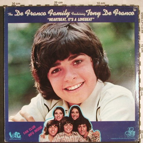 De Franco Family: Heartbeat,It's A Lovebeat, Foc, 20th Century Fox(T-422), US, 1973 - LPgx - H7860 - 4,00 Euro