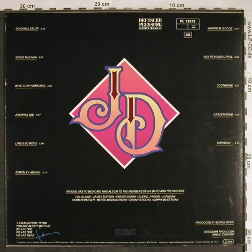 Denver,John: Same ('JD'), RCA(PL 13075), D, 1979 - LP - H7923 - 3,00 Euro