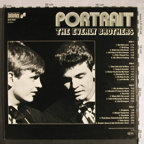 Everly Brothers: Portrait, Foc, Bellaphon(BLS 5539), D, 1976 - 2LP - H807 - 7,50 Euro