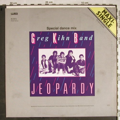 Kihn Band,Greg: Jeopardy*2(sp.dance mix+instr), Beserkley(96-7932-0), B,m-/vg+, 1983 - 12inch - H8396 - 3,00 Euro