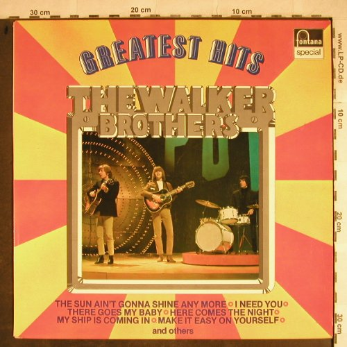 Walker Brothers: Greatest Hits, Fontana(6430 133), NL,  - LP - H8602 - 5,00 Euro