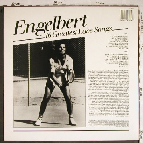 Engelbert: 16 Greatest Love Songs, Contour(CN 2070), UK, Ri,  - LP - H8662 - 5,00 Euro