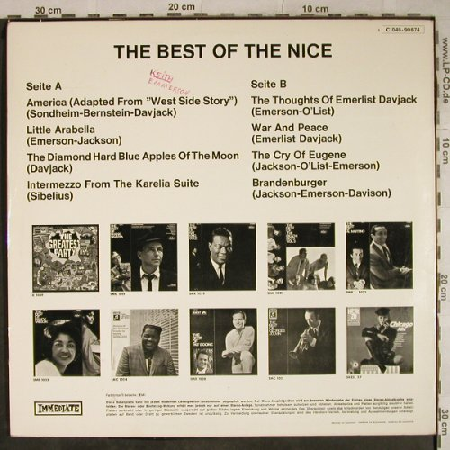 Nice: The Best Of, woc, Immediate(C 048-90674), D,  - LP - H9413 - 7,50 Euro