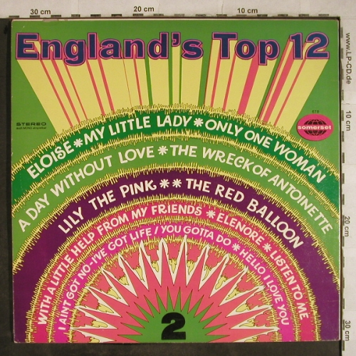 V.A.England's Top 12-Vol.2: Eloise...Hello I Love You, Somerset,vocalProduction(679), UK, vg+/m-, 1968 - LP - H9460 - 5,00 Euro