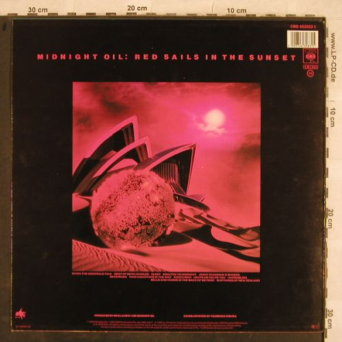 Midnight Oil: Red Sails In The Sunset, CBS(463083 1), NL, 1984 - LP - H9788 - 4,00 Euro