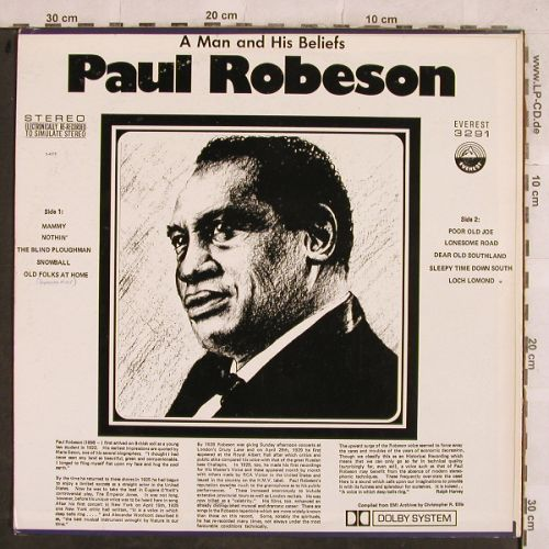 Robeson,Paul: A Man And His Beliefs, Everest(3291), US,  - LP - H9917 - 6,00 Euro