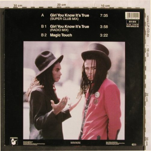 Milli Vanilli: Girl You Know It's True*2+1, Hansa(611 014), D, 1988 - 12inch - H9969 - 3,00 Euro