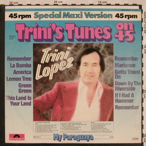 Lopez,Trini: Trini's Tunes On 45 / My Paraguaya, Polydor(2141 441), D, 1981 - 12inch - X1002 - 4,00 Euro