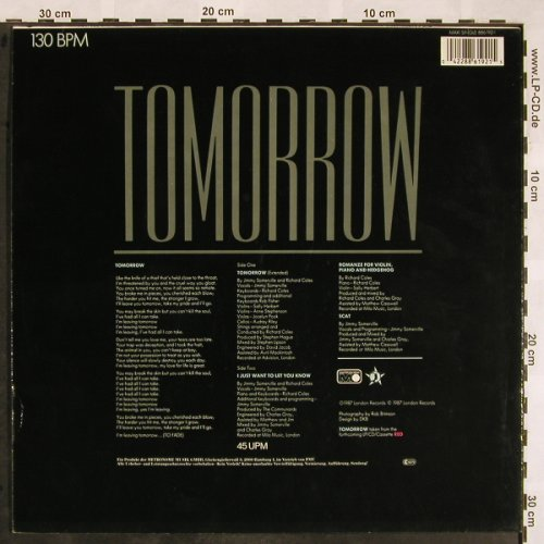 Communards: Tomorrow*2+1, Metronome(886 192-1), D, 1987 - 12inch - X1290 - 3,00 Euro