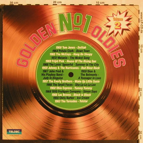 V.A.Golden No.1 Oldies: Vol.2-Johnny&t.Hurricanes...Melanie, Teldec(31 499 7), D,Club Ed.,  - LP - X1322 - 6,00 Euro