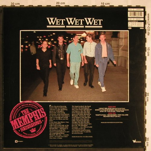Wet Wet Wet: The Memphis Sessions, Mercury(836 603-1), D, 1988 - LP - X1458 - 5,50 Euro