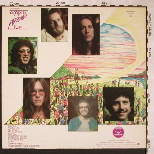 Rundgren's Utopia,Todd: Another Live, Bearsville(BEA 55 508), D, 1975 - LP - X1542 - 6,00 Euro