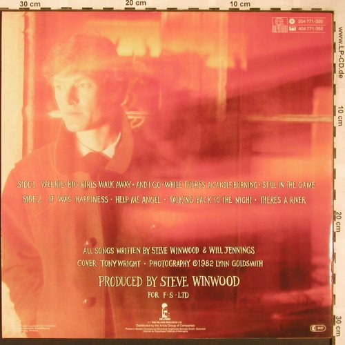 Winwood,Steve: Talking Back To The Night, Island(204 771-320), D, 1982 - LP - X1619 - 5,00 Euro
