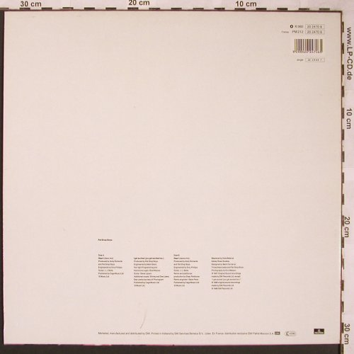 Pet Shop Boys: Heart(discomix/dance)+1, Parlophone(20 2470 6), NL, 1987 - 12inch - X1624 - 4,00 Euro