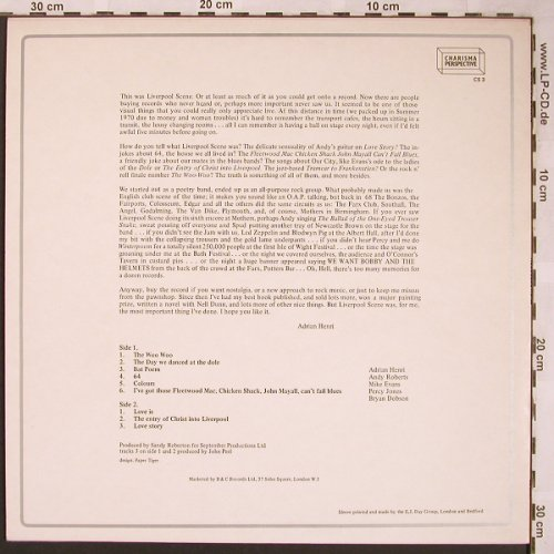 Liverpool Scene: Recollections, Charisma(CS 3), UK, 1972 - LP - X1652 - 12,50 Euro