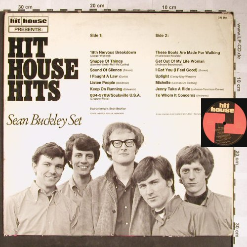 Buckley Set,Sean: Hit House Hits, m-/VG-, hit house(249 980), D, 1968 - LP - X1803 - 50,00 Euro