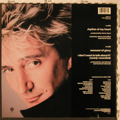 Stewart,Rod: Rhythm Of My Heart, WEA(W 0017 T), D, 1991 - 12inch - X1962 - 4,00 Euro