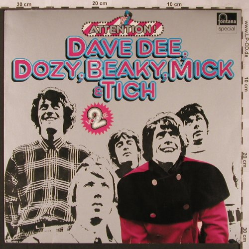 Dave Dee,Dozy,Beaky,Mick & Tich: Attention! Vol.2, Fontana Special(6438 203), D,  - LP - X2046 - 5,50 Euro