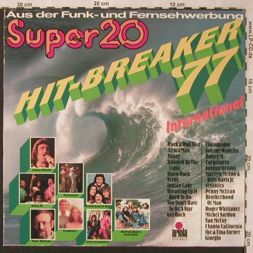 V.A.Hit-Breaker'77 - International: Boney M...Manfred Mann's Earth Band, Ariola(28 555 XST), D, 1977 - LP - X2052 - 4,00 Euro