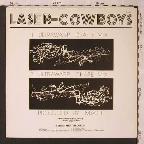 Laser Cowboys: Ultrawarp*2- Death/Chase Mix, Italoheat(ITH 001), D, 1984 - 12inch - X2104 - 3,00 Euro