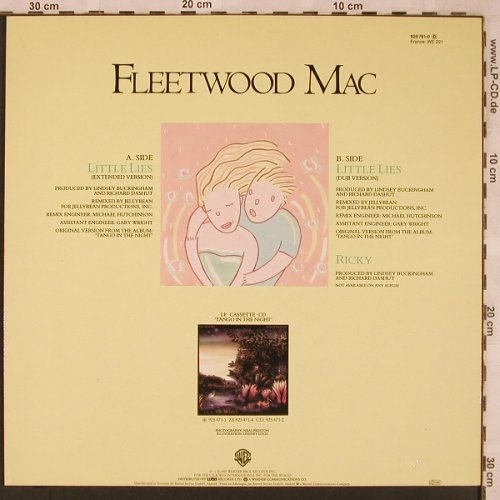 Fleetwood Mac: Little Lies, ext.vers.,dub / Ricky, WB(920 761-0), D, 1987 - 12inch - X2281 - 5,00 Euro