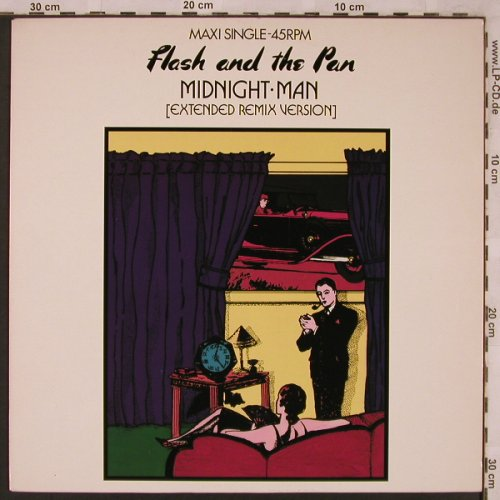 Flash & The Pan: Midnight Man*2+1, Epic(EPCA 12-4847), NL, 1985 - 12inch - X2355 - 4,00 Euro