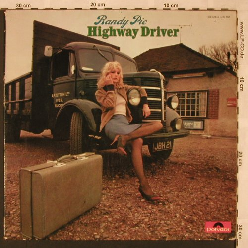Randy Pie: Highway Driver, vg+/vg+, Polydor(2371 555), D, 1974 - LP - X2368 - 9,00 Euro