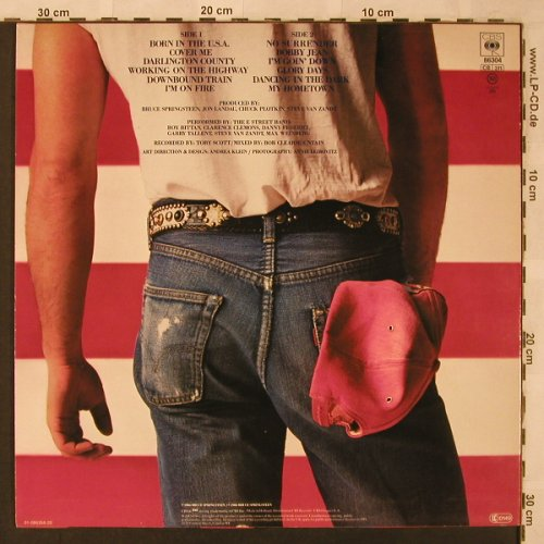 Springsteen,Bruce: Born In The USA, CBS(CBS 86304), NL, 1984 - LP - X2546 - 5,00 Euro