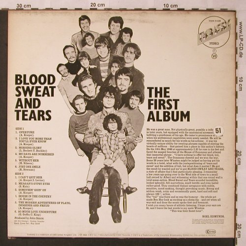 Blood,Sweat & Tears: The First Album, Ri, m-/VG+, Embassy(EMB 31 028), NL, 1968 - LP - X2616 - 5,00 Euro