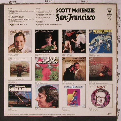 Mc Kenzie,Scott: San Francisco, Embassy(EMB 31077), NL, 1967 - LP - X2867 - 5,00 Euro