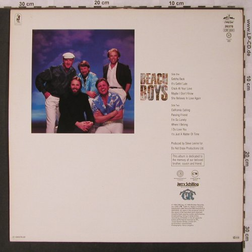 Beach Boys: Same, CBS(CRB 26 378), NL, 1985 - LP - X2932 - 5,00 Euro