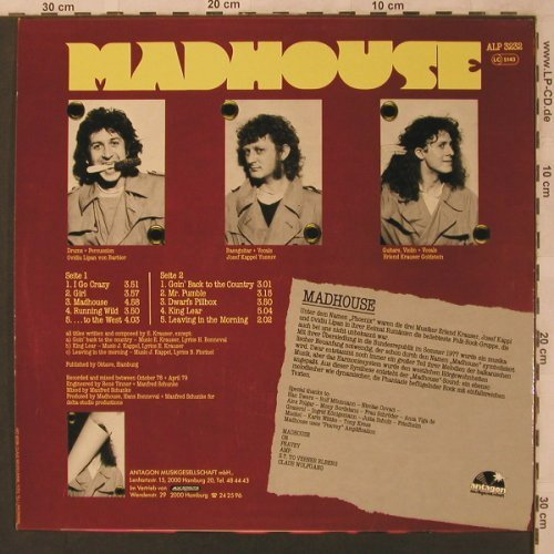 Madhouse: From The East, Antagon(ALP 3232), D, 1979 - LP - X2945 - 9,00 Euro