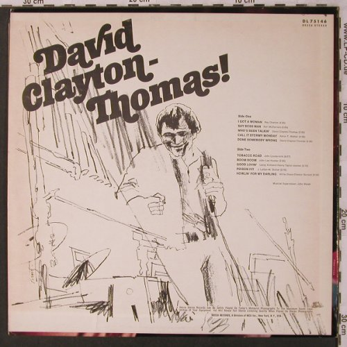 Clayton-Thomas,David: Same, Decca(DL 75146), US, co,  - LP - X2960 - 9,00 Euro